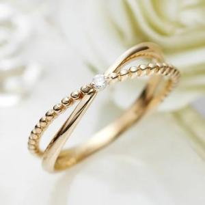 ピンキーリング K18 レディース 0号 1号 2号 3号 4号 イエローゴールド Pinky Promise (20-1583 K18YG) select-alei