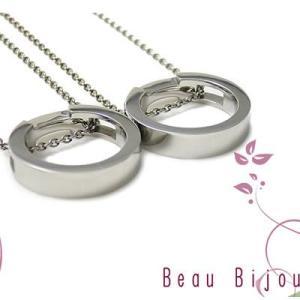 ペアネックレス ステンレス カップル アレルギー対応 人気 ブランド Beau Bijou (BB-MS-008P)|select-alei