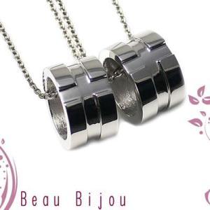 ペアネックレス ステンレス カップル アレルギー対応 人気 ブランド Beau Bijou (BB-MS-020P)|select-alei