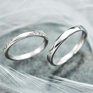 結婚指輪 マリッジリング プラチナ ペアリング 2本セット 無料刻印 Premium memory (pre-11-22-4071)|select-alei
