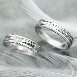 結婚指輪 マリッジリング プラチナ ペアリング 2本セット 無料刻印 Premium memory (pre-11-4023-28-8315)|select-alei