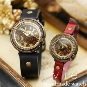 ペアウォッチ カップル 人気 セット 腕時計 セイコー製クォーツムーブメント 手作り ハンドメイド Vie (WB-008M-008S)|select-alei