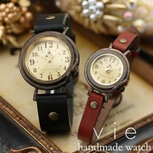 ペアウォッチ カップル 人気 セット 腕時計 セイコー製クォーツムーブメント 手作り ハンドメイド Vie (WB-013M-013S)|select-alei