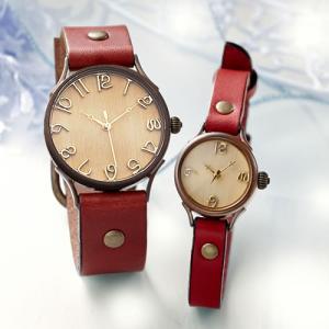 ペアウォッチ カップル 人気 セット 腕時計 セイコー製クォーツムーブメント 手作り ハンドメイド Vie (WB-045L-045S[W3])|select-alei