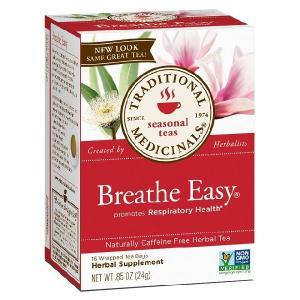 Traditional Medicinals トラディショナルメディシナルズ ブレスイージーティー 呼吸サポート