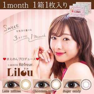 [Point5倍] Lilouリル 1ヶ月用カラコン 1箱1枚入り|select-eyes