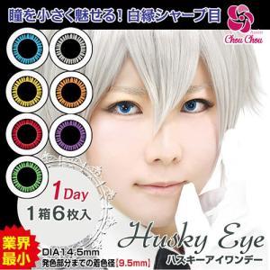 アシストシュシュ ハスキーアイワンデー 度あり・度なし 1箱6枚入り 全7色 コスプレ向き 1Dayカラコン|select-eyes