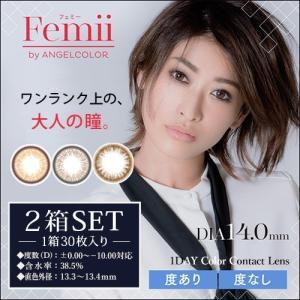 フェミーバイエンジェルカラー(Femii by Angelcolor) ナチュラル ワンデー カラコン DIA14.0mm【1箱30枚入り×2箱SET】|select-eyes