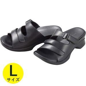 AKAISHI アーチフィッター サンダル ブラック Lサイ...