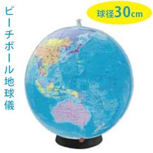 地球儀・NAVI 日本語版 世界が学べる教材 球形30cm 世界の国旗ポスター付き ビーチボール