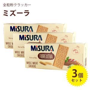 ミズーラ 全粒粉クラッカー 385g×3個セット クラッカー 小麦粉 ウエハース MiSURA
