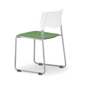 4脚セット スタッキングチェア MC-101W粉末塗装タイプ 素材・カラー選べます オフィス家具 会議 チェア/椅子ホワイトシェル仕様  送料無料|select-office