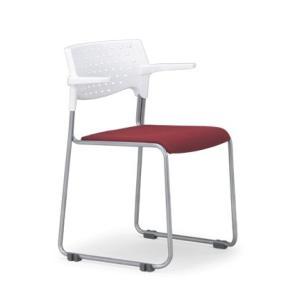 4脚セット スタッキングチェア MC-102W粉体塗装タイプ 素材・カラー選べます オフィス家具 会議 チェア/椅子ホワイトシェル仕様  送料無料|select-office