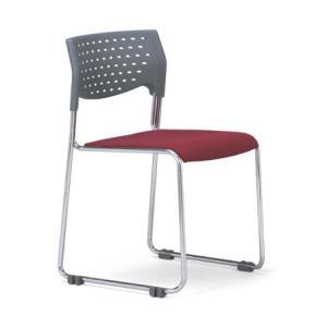 スタッキングチェア MC-111Gクロームメッキタイプ 素材・カラー選べます オフィス家具 会議 チェア/椅子グレーシェル仕様  送料無料|select-office