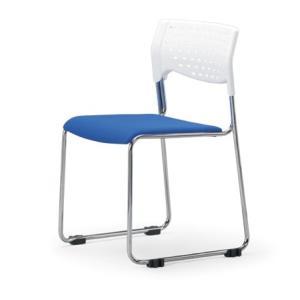 スタッキングチェア MC-111Wクロームメッキタイプ 素材・カラー選べます オフィス家具 会議 チェア/椅子ホワイトシェル仕様  送料無料|select-office