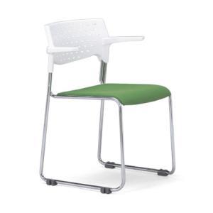 4脚セット スタッキングチェア MC-112Wクロームメッキタイプ 素材・カラー選べます オフィス家具 会議 チェア/椅子ホワイトシェル仕様  送料無料|select-office