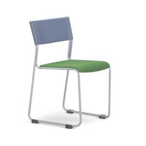 4脚セット MC-131G(F18)(VG1)スタッキングチェア粉体塗装タイプ 素材・カラー選べます オフィス家具 会議 チェア/椅子グレーシェル仕様  送料無料|select-office