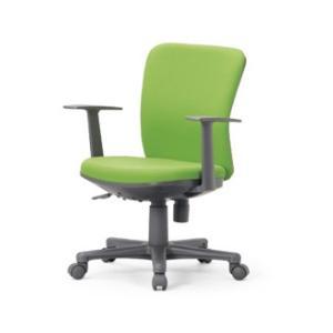 送料無料 ローバックタイプオフィスチェア・T型肘付き 組立品 事務椅子・ミーティングチェアチェア/椅子 メーカー品 肘付き 素材・カラー選べます select-office