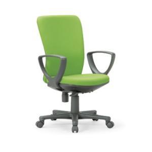送料無料 ミドルバックタイプオフィスチェア・サークル肘付き 組立品 事務椅子・ミーティングチェアチェア/椅子 メーカー品 肘付き 素材・カラー選べます select-office