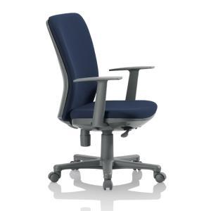 送料無料 ミドルバックチェアオフィスチェア・T型肘付き 組立品 事務椅子・ミーティングチェアチェア/椅子 メーカー品 肘付き 素材・カラー選べます select-office