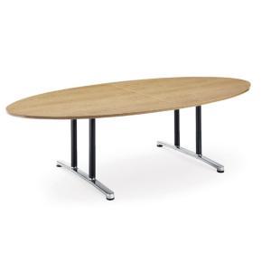 ミーティングテーブルWALテーブル会議テーブル タマゴ形 (WAL-2412EM1) カラー選べます  送料無料|select-office