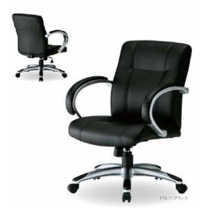 送料無料 オフィスチェアエグゼクティブタイプオフィス家具/チェア/椅子ブラック (ウレタンレザー) お客様組立品 役員椅子/社長椅子/会議チェア|select-office