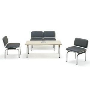 FUL-2L・1L応接4点セット2人掛け応接チェア1点チェア2点テーブル1点 ビニールレザー・ソファーカラー選べます  送料無料|select-office