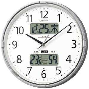 【CITIZEN正規品】 4FY618-019 シチズン CITIZEN リズム 高精度温湿度計付(LCD表示)電波掛け時計 インフォームナビF|select-s432