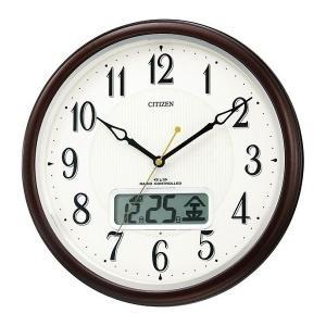 【CITIZEN正規品】シチズン CITIZEN リズム 電波掛け時計 ピュアカレンダーM03  4FYA03-006 select-s432