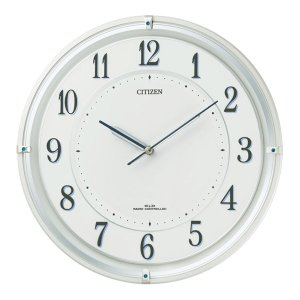 【CITIZEN正規品】 4MY817-003 シチズン CITIZEN リズム ソーラー電波掛け時計 サイレントソーラーM817|select-s432