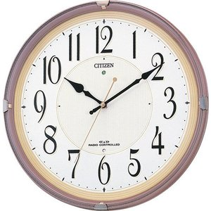 【CITIZEN正規品】シチズン CITIZEN リズム 電波掛け時計 ネムリーナM416 8MY416-006 select-s432