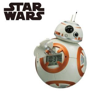 『正規品』 BB-8 STAR WARS スターウォーズ 目覚まし時計 8RDA74MC03 アクションクロック REHYTHM  リズム|select-s432