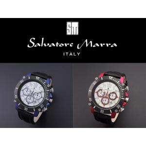 『国内正規品』 SM13115 Salvatore Marra サルバトーレ マーラ 腕時計 ウォッチ メンズ クロノグラフ 革ベルト レザー バンド|select-s432