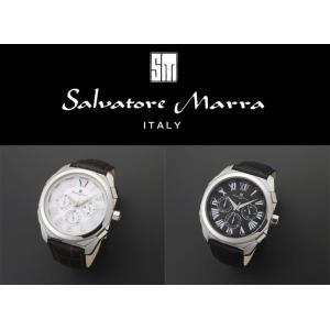 『国内正規品』 SM14122 Salvatore Marra サルバトーレ マーラ 腕時計 ウォッチ メンズ クロノグラフ 革ベルト レザー バンド|select-s432