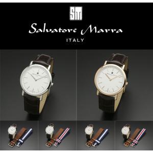 『国内正規品』 SM17109 Salvatore Marra サルバトーレ マーラ 腕時計 ウォッチ メンズ 革ベルト レザー バンド 替えベルト2種付き|select-s432