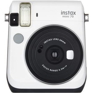 FUJIFILM インスタントカメラ チェキ instax mini 70 ホワイト INS MINI 70N WHITE|select-shop-rainbow