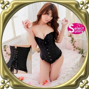 セクシーコルセット 黒 編み上げ セクシー下着 Sサイズ Lサイズ XLサイズ 大きいサイズ s1643(s1643-2815)