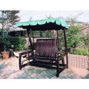 チーク デラックススイングラブベンチ ガーデンファニチャー ガーデンチェア ガーデンブランコ 木製 ...