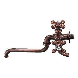 双口自在水栓 7042FBP 約W116.5×D255×H168.5mm カクダイ 蛇口 ホーム水栓...