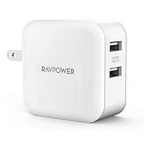 RAVPower USB 充電器 2ポート 24W アダプタ USB コンセント【PSE認証済み/急...