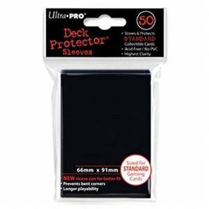 TC UltraPRO 通常サイズ ソリッドデッキプロテクターハードスリーブ (ブラック)50枚入り [91×66mm]|select34
