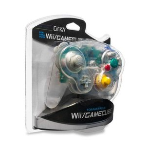 Wii Cirka GameCube Wired Controller (Clear)|select34