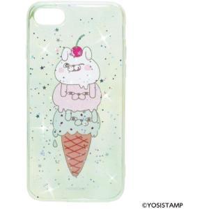 ヨッシースタンプ YOSISTAMP iPhone 8 /7 ケース (アイフォン 8 /7 カバー) キラキラ スマホケース アイスクリーム ドリームラッシュ|selecta-birra