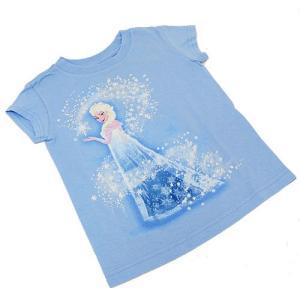 Disney ディズニー アナと雪の女王 Tシャツ (エルサ) / キッズ Tシャツ 女の子用 3114  (サイズXXS)|selectag