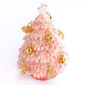 【ジュエリーボックス】 ピンククリスマス ジュエリーボックス 3882 selectag