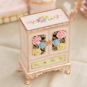 【ジュエリーボックス】【ミニチュア家具シリーズ】 ワードローブ ジュエリーボックス EX4811 ピンク selectag