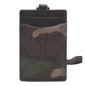 コーチ カードケース COACH アウトレット カモフラージュ シグネチャー ランヤード メンズ IDケース F11984 MGQ n70913|selectag