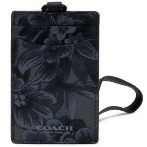 コーチ カードケース COACH アウトレット メンズ  レザー フローラル ハワイアン ランヤード ID ケース / カードケース F59472 M50 n70412|selectag