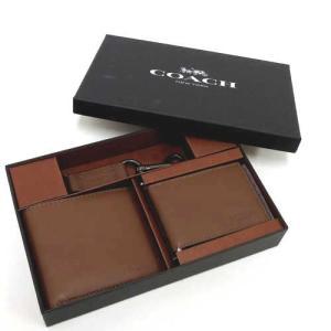 コーチ 財布 COACH アウトレット 二つ折り財布財布&アンド トリガー スナップ キーホルダー セット (BOX付)  F64118 CWH|selectag