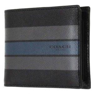 コーチ 財布 COACH アウトレット ヴァーシティ レザー コンパクト ID ウォレット / 二つ折り財布 F75399 MFZ|selectag